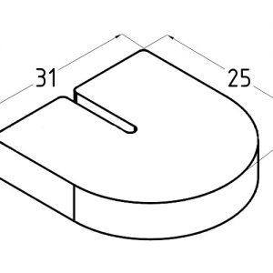 Комплект резинок под стекло 8 мм для нержавеющего стеклодержателя